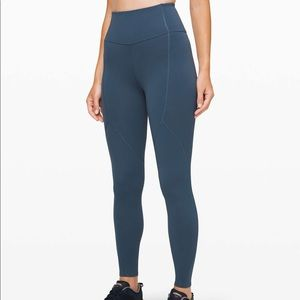 """Lululemon To the Beat Tight 24"""" Code Blue Size 4"""